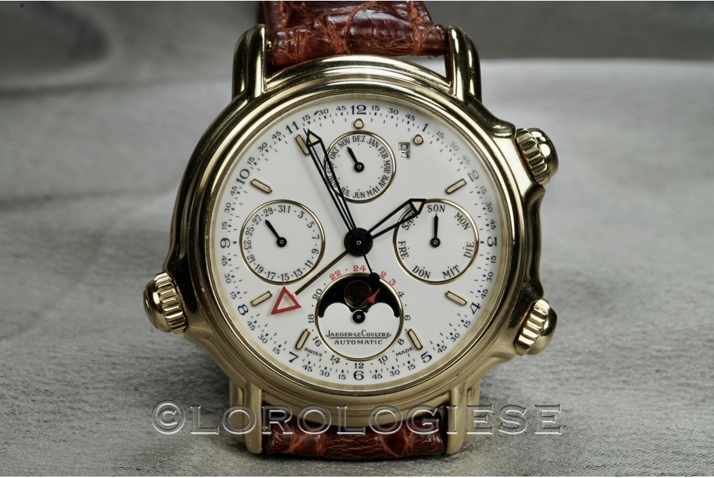 Jaeger LeCoultre - Ref. 180.1.99 Calendrier Perpetuel Grand Reveil Alarm 18kt. Gold Watch - Cal. 916