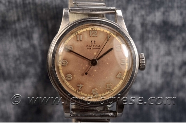 OMEGA – Waterproof Step-Case 1936 Tropical Dial Watch – Cal. 23.4 S.C
