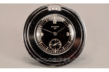 Cyma 1a – Step-Case Black Glossy Sector-Dial Pocket Watch – Cal. 033