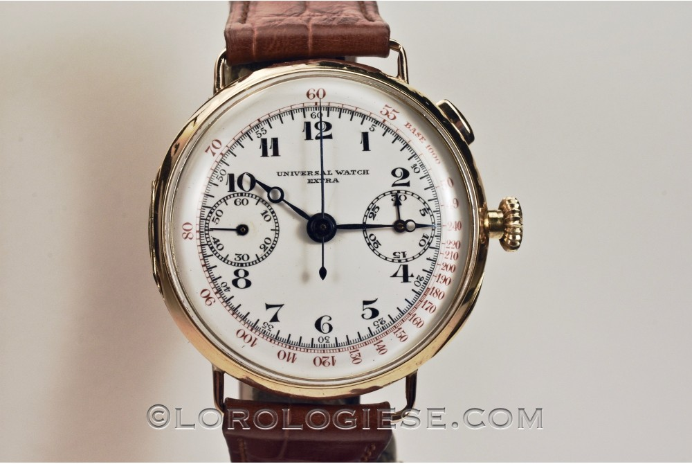 Universal Watch – Extra – 1930 Solid 18kt. Gold Chronograph – Cal. R 22GH