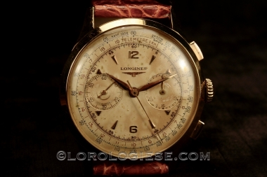 LONGINES – 30.CH ref. 5967 Original 1952 18kt. Red Gold 38mm Flyback Chronograph