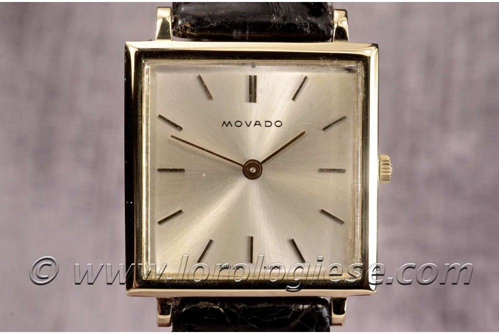 MOVADO – Tank Carre Ultra-Thin 18kt. Gold Vintage Watch