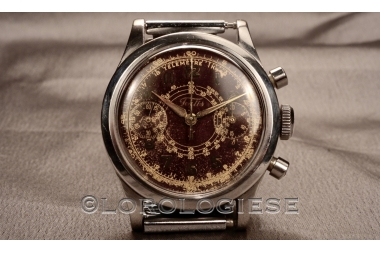 Fortis - Clamshell Chronograph Tropical Glossy Brown Dial - Cal. Venus 150
