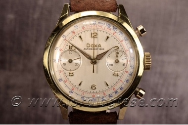 DOXA – Original 1940`s Spillmann Case 38mm Waterproof Chronograph – Cal. Valjoux R22