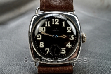 Omega - Original 1915 Sterling Silver Black Enamel Dial Watch - Cal. 13