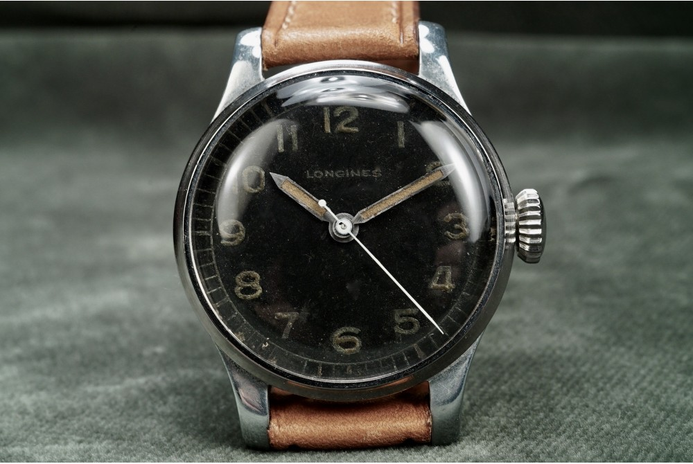 Longines - Military Style 1941 Black Dial Watch - Cal. 12L