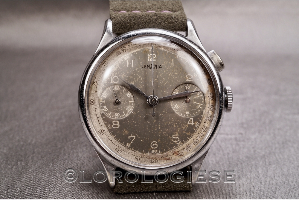 Lemania - Vintage 1940 Oversize Glossy Dial Chronograph - Cal. 15.CHT