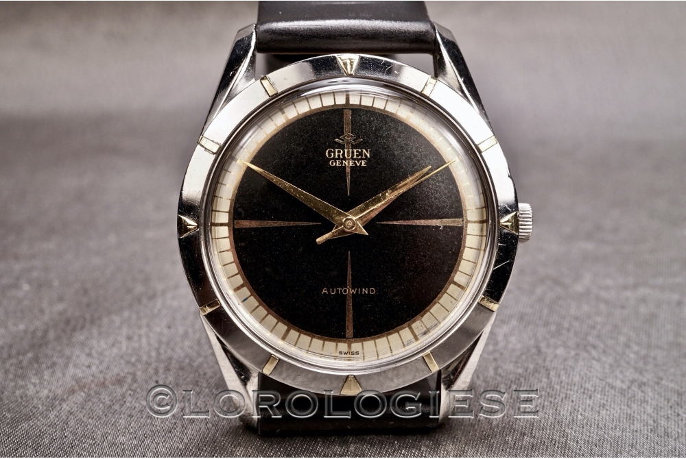 Gruen - Autowind Black Glossy Dial Automatic - Cal. 462SS
